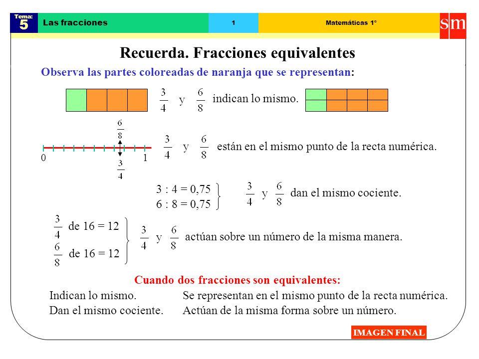 Recuerda Fracciones Equivalentes Ppt Descargar