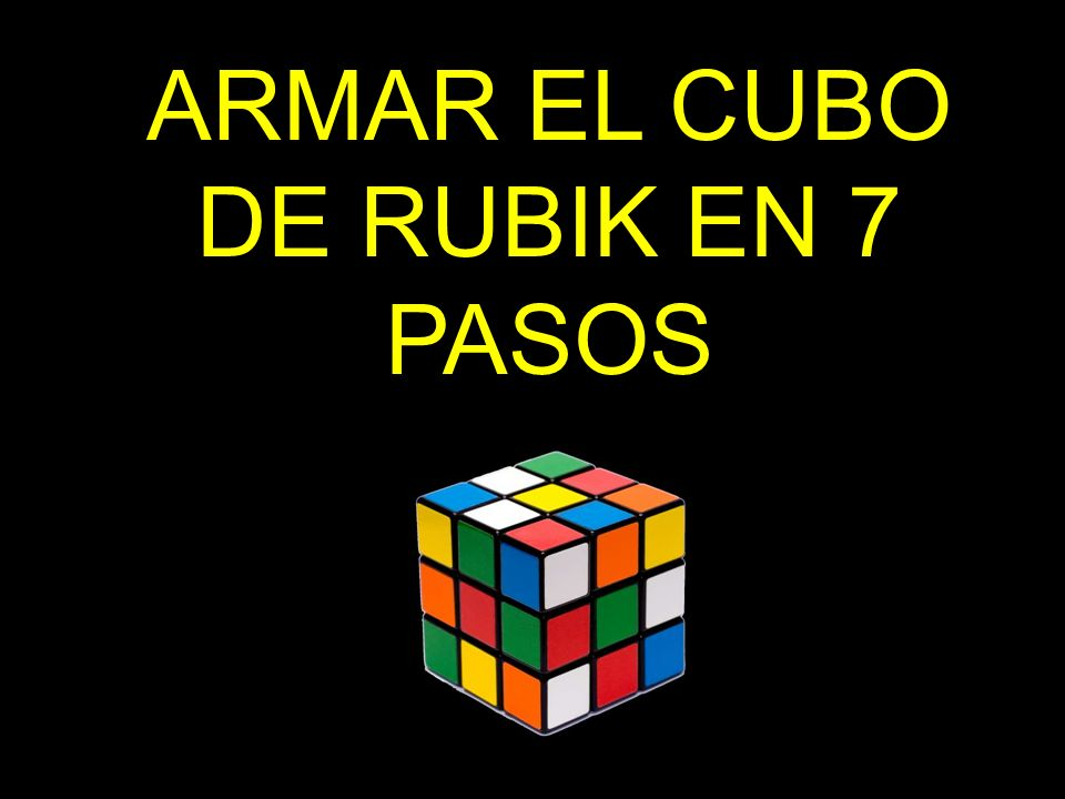 Armar El Cubo De Rubik En 7 Pasos Ppt Video Online Descargar