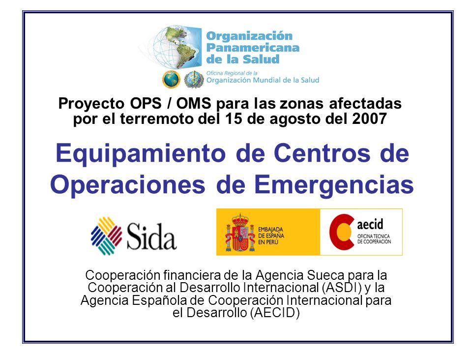 Equipamiento De Centros De Operaciones De Emergencias Cooperación Financiera De La Agencia Sueca Para La Cooperación Al Desarrollo Internacional Asdi Ppt Descargar