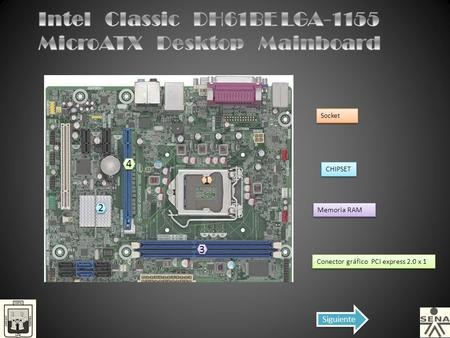 Intel Classic DH61BE LGA-1155 MicroATX Desktop Mainboard