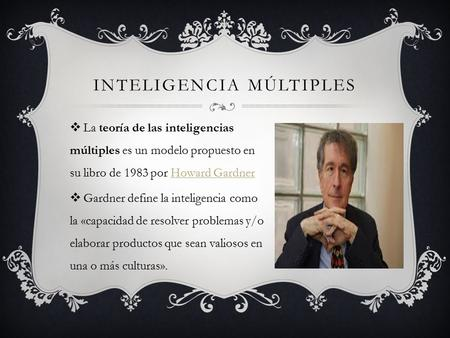 Inteligencia múltiples
