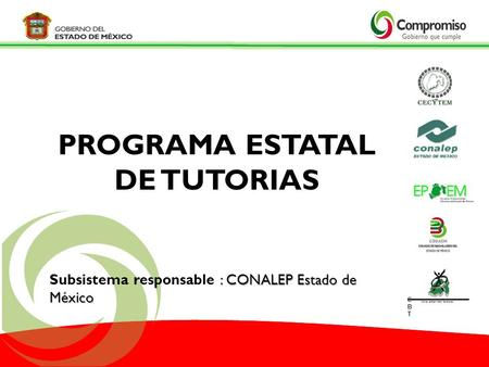 PROGRAMA ESTATAL DE TUTORIAS