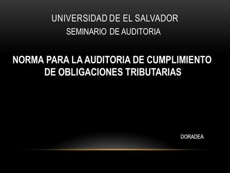 UNIVERSIDAD DE EL SALVADOR
