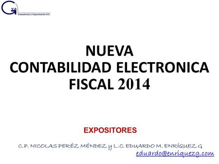 CONTABILIDAD ELECTRONICA FISCAL 2014
