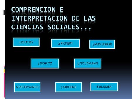 COMPRENCION E INTERPRETACION DE LAS CIENCIAS SOCIALES...