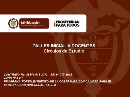 TALLER INICIAL A DOCENTES