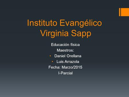 Instituto Evangélico Virginia Sapp