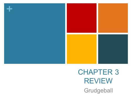 + CHAPTER 3 REVIEW Grudgeball. + HAGA AHORA HAGA AHORA el 19/20 de noviembre Answer the following questions about yourself following the example format: