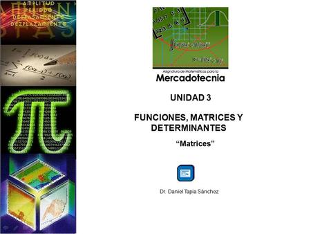 FUNCIONES, MATRICES Y DETERMINANTES
