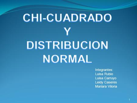CHI-CUADRADO Y DISTRIBUCION NORMAL