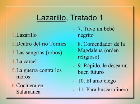 Galería Del Lazarillo De Tormes Ppt Descargar