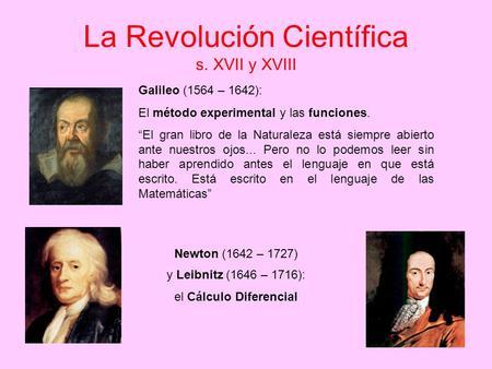 Consecuencias de la revolucion cientifica – Muestras de documentos