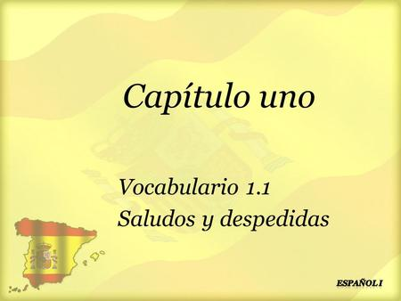 Spanish Level 2 Greetings Second Level Significant Aspects ...