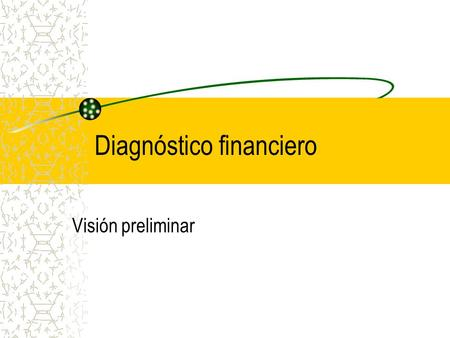 Diagnóstico financiero