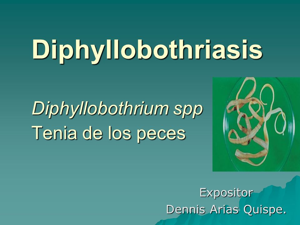 diphyllobothriasis teniasis