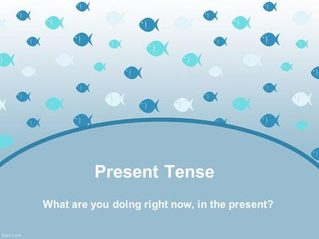 Present Tense What are you doing right now, in the present?