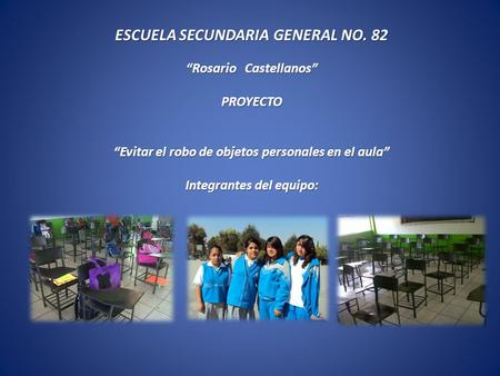 ESCUELA SECUNDARIA GENERAL NO