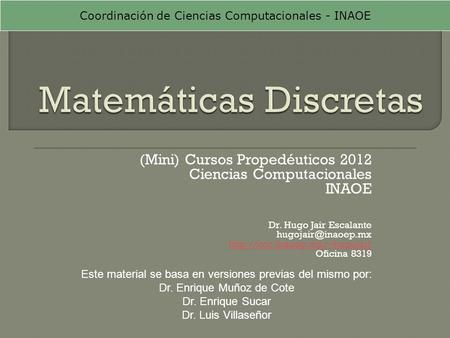 Matemáticas Discretas - ppt descargar