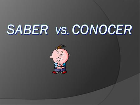 " Both SABER and CONOCER mean ""to know"" Conocer Conocer is used in the context of: 1) To meet a person 2) To know (have met) a person 3) To know (have."