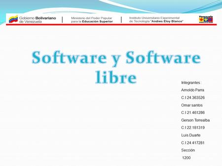 Software y Software libre