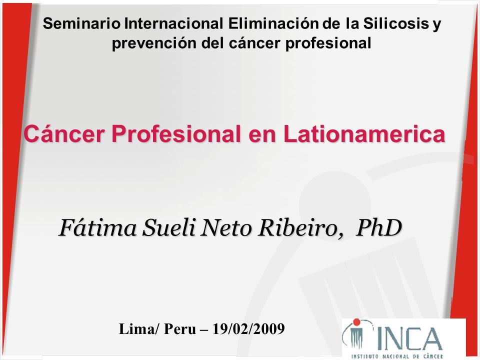 cancer profesional peru paraziți reflexoterapie