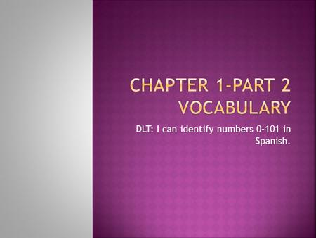 Chapter 1-Part 2 Vocabulary