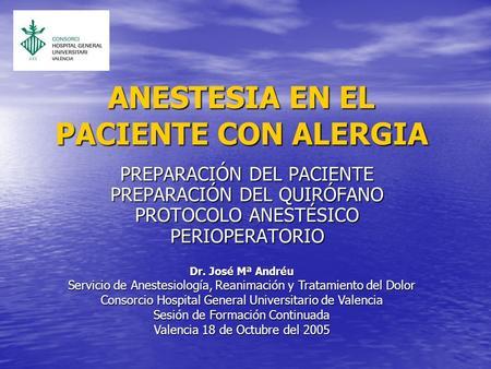 alergia latex anestesia