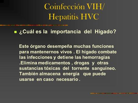 Coinfección VIH/ Hepatitis HVC