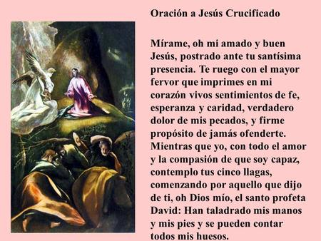 Oración a Jesús Crucificado