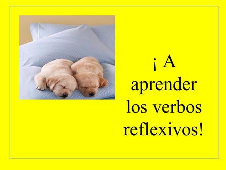 ¡ A aprender los verbos reflexivos!. Reflexive verbs are actions that reflect back onto the person doing the action. Reflexive Verbs have two parts. -