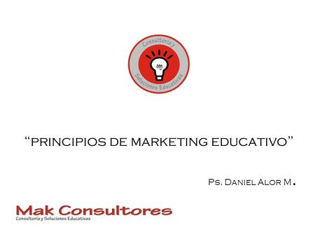 """principios de marketing educativo"""