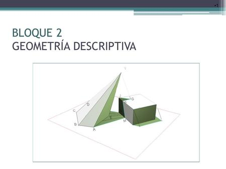 BLOQUE 2 GEOMETRÍA DESCRIPTIVA
