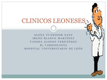 VANESA ALONSO FERNÁNDEZ HOSPITAL UNIVERSITARIO DE LEÓN