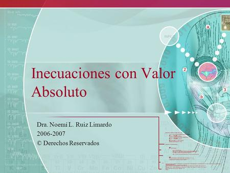 Inecuaciones con Valor Absoluto