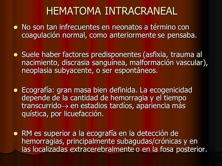 HEMATOMA INTRACRANEAL