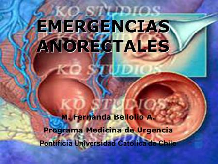 EMERGENCIAS ANORECTALES