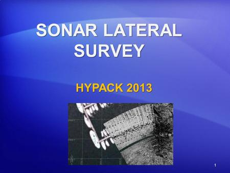 SONAR LATERAL SURVEY HYPACK 2013 1.