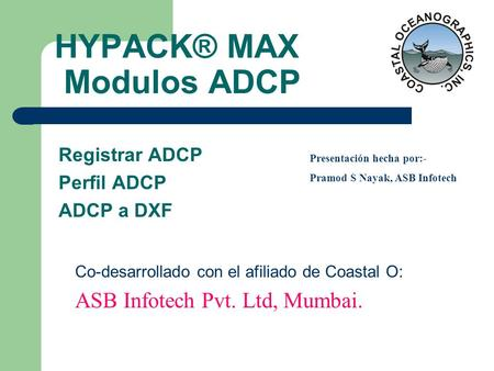 HYPACK® MAX Modulos ADCP