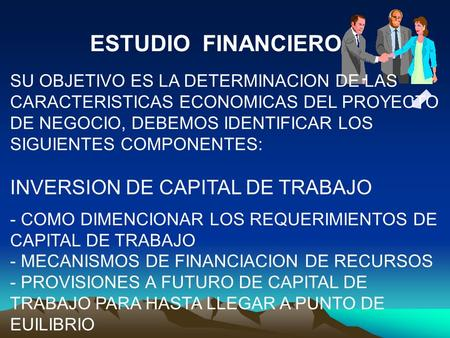 ESTUDIO FINANCIERO INVERSION DE CAPITAL DE TRABAJO