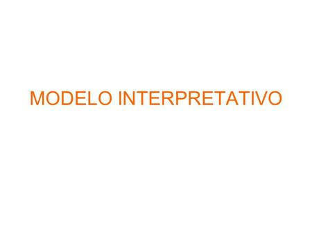MODELO INTERPRETATIVO