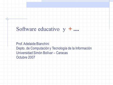 Software educativo y Prof. Adelaide Bianchini