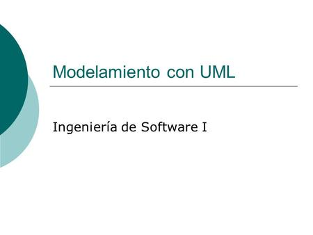 Ingeniería de Software I