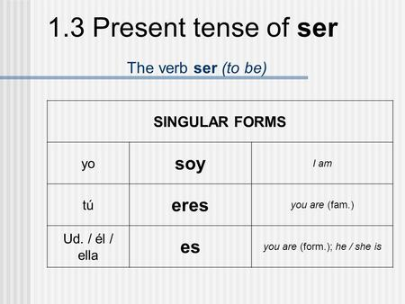 you are (form.); he / she is