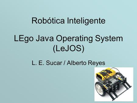 LEgo Java Operating System (LeJOS)