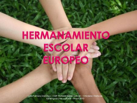 HERMANAMIENTO ESCOLAR EUROPEO