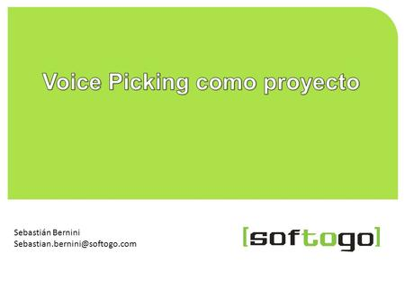 Voice Picking como proyecto