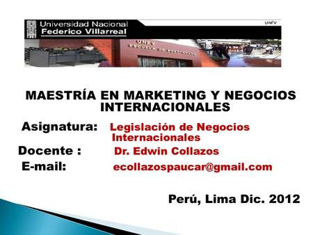 MAESTRÍA EN MARKETING Y NEGOCIOS INTERNACIONALES