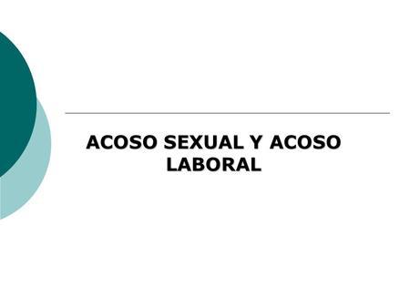 Acoso sexual en el trabajo peru ppt