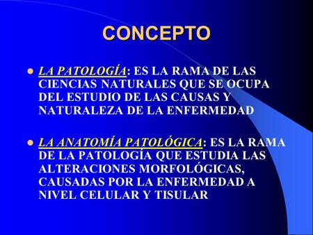 Introducción a la Anatomía Patológica Técnicas de Estudio - ppt ...