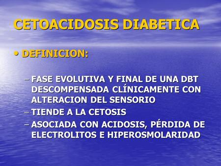 cetoacidosis diabetes ppt para niños
